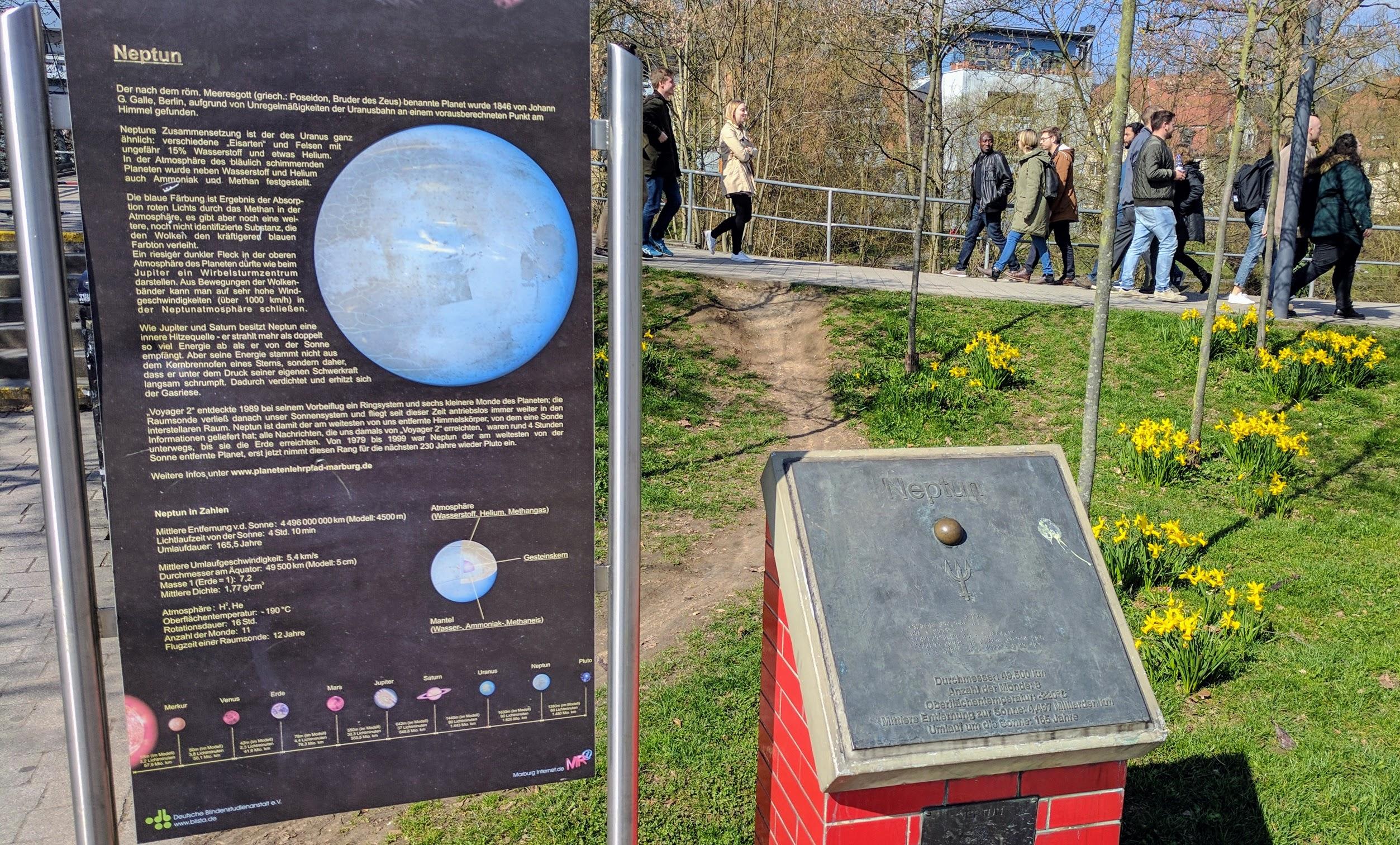 Planetenlehrpfad | www.weidenhausen-marburg.de